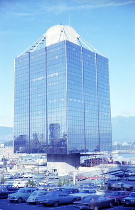 British Columbia - Vancouver skyline : Westcoast bldg. and scenery from inside