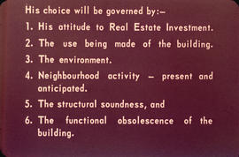 Text slide on choices a building owner faces