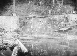 Coquitlam Dam [showing] original intake