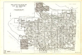 Index to 400 ft. scale section maps, City of Vancouver, British Columbia, index map 40