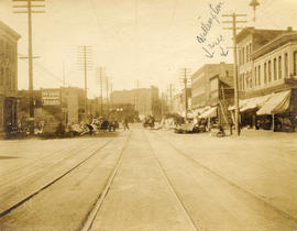 [View of Hastings Street looking west from Columbia Street]