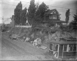 [A road under construction in Kerrisdale]