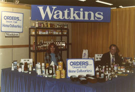Watkins pharmaceutical aids display booth