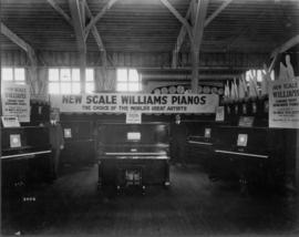 Williams Pianos display