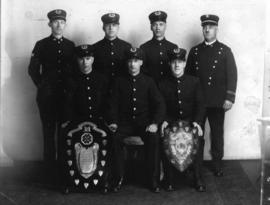 Group portrait of Vancouver Fire Department First Aid Team, winners of Daily Province and City Sh...