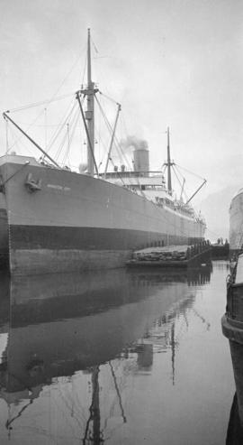 "[S.S.""Anniston City"" at dock]"