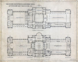 Upper and main floor plans