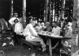 [Unidentified group having a picnic]