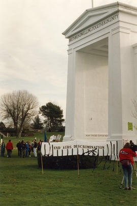 AIDS demo [at] Peace Arch