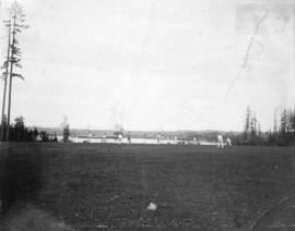 [Cricket game at Brockton Point, Stanley Park]
