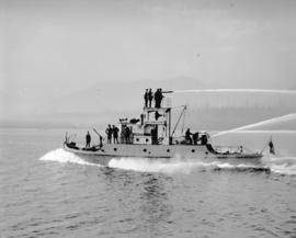 """J.H. Carlisle"" fireboat test run"
