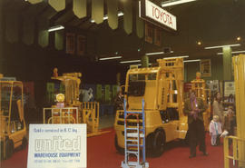 Pacific Industrial Equipment and Materials Handling Show - United Warehouse Equipment display booth