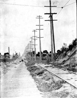 34th Avenue before paving, looking east
