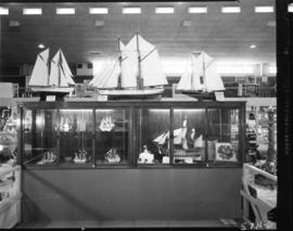 Display of model ships in 1957 P.N.E. Hobby Show