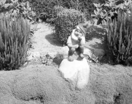 [Garden gnome at Vivian E. Bennett residence - 1735 East 49th Avenue]