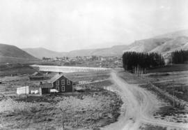 [View of Ashcroft showing the Cariboo Road]