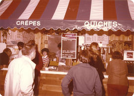 Crepes and Quiches concession stand