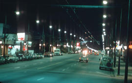[View of] Broadway West [at night]