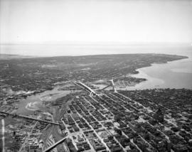 Aerial view of finished bridge (from N.E.).