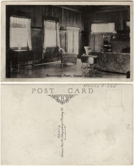 Recreation room, Hornby Island Lodge