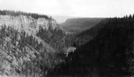 View of the chasm just above Clinton, B.C.
