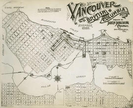 Plan of Vancouver, 1889 [fire map] : key plan