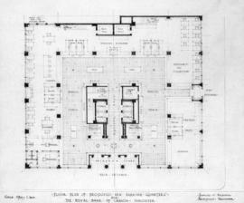 Floor plan of proposed new banking quarters for the Royal Bank of Canada, Vancouver [B.C.]