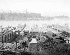 [View of] Coal Harbour and Stanley Park from Georgia [Street]
