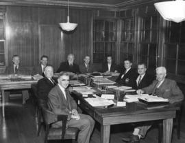 [The Council of the District of North Vancouver at their first meeting in the new Municipal Hall]