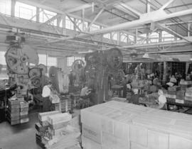 [View of the shop floor at] Dominion Electrohome Industries