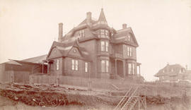 [Exterior of Dr. and Mrs. J.M. Lefevre's residence on the N.W. corner of Hastings and Granvi...