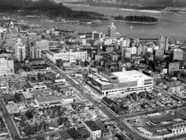 [Aerial view Downtown Vancouver and Coal Harbour]