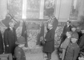 Harry Gale [possibly Governor General Duke of Devonshire unveiling plaque commemorating the offic...