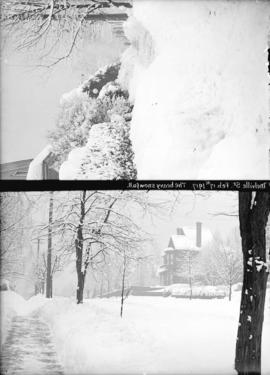 [Two views of Melville Street covered in snow]