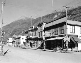 [Buildings and businesses in Skagway Alaska]