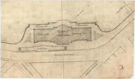 Plan of public hall, restaurant, winter garden and swimming pool on Beach Avenue