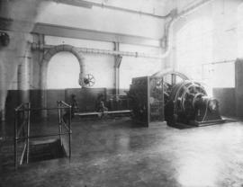 Sugar factory interior, machinery and window