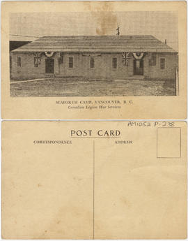 Seaforth Camp, Vancouver, B.C. [Canadian Legion War Services building]