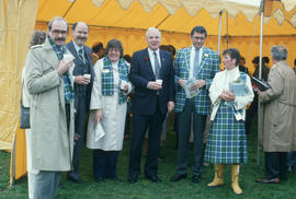 Group of people wearing Centennial tartan