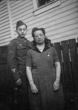 Lillian Wong and Wilgene [Wong] in uniform