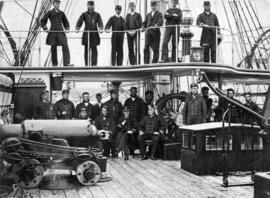 "Group of ""Reindeer"" Officers [on board ship]"