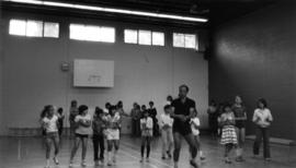 George Walker leading a dance class at Dunbar Summer Music in Know [Knox] United Church