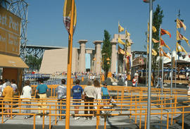 Expo 86 from West port looking west to Ramses exhibit, 10:53