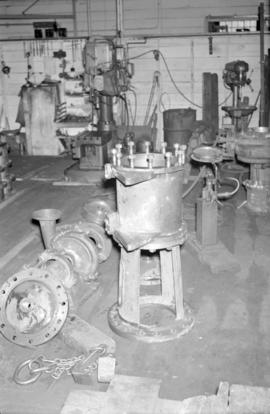 [Metal equipment components being manufactured at Vancouver Engineering Works]