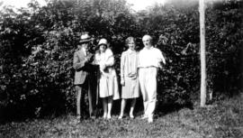 [Group portrait of L.D. Taylor with George J. and Annie Fowler and an unidentified woman]