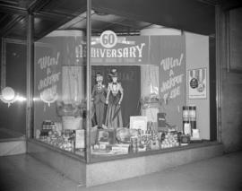 [Vancouver Board of Trade 60th Anniversary window display]