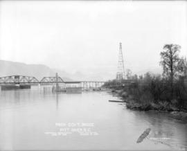 Prov. Govt. Bridge Pitt River - open for traffic Mar. 1, 1915 - commenced construction June 9, 1914