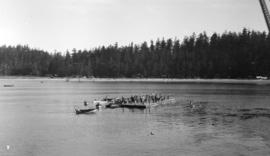 Selma Park & Pender Harbour [view of wharf and beach] Union Steamship Co.