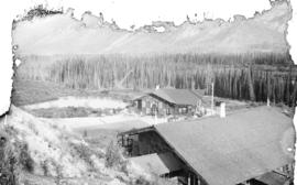Cottages at sulphur hot springs, Banff, Canadian National Park