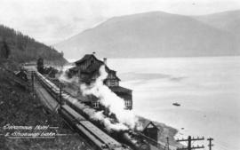 Sicamous Hotel and Shuswap Lake